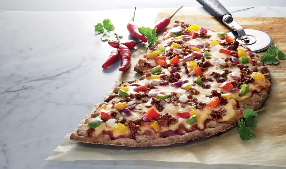 pizza på knäckebröd