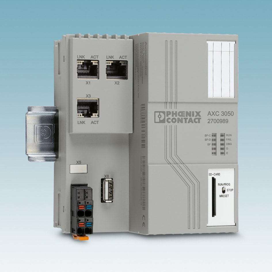 High Performance Controller For Wind Turbines Phoenix Contact Uk Circuit Breaker Panel Electrician In The Axiocontrol Axc 3050 From Provides Optimum Conditions Use Energy Industry Thanks To Fast Processing