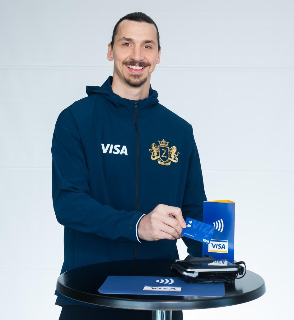 Zlatan Ibrahimovic Startet Zusammenarbeit Mit Visa Vor Der