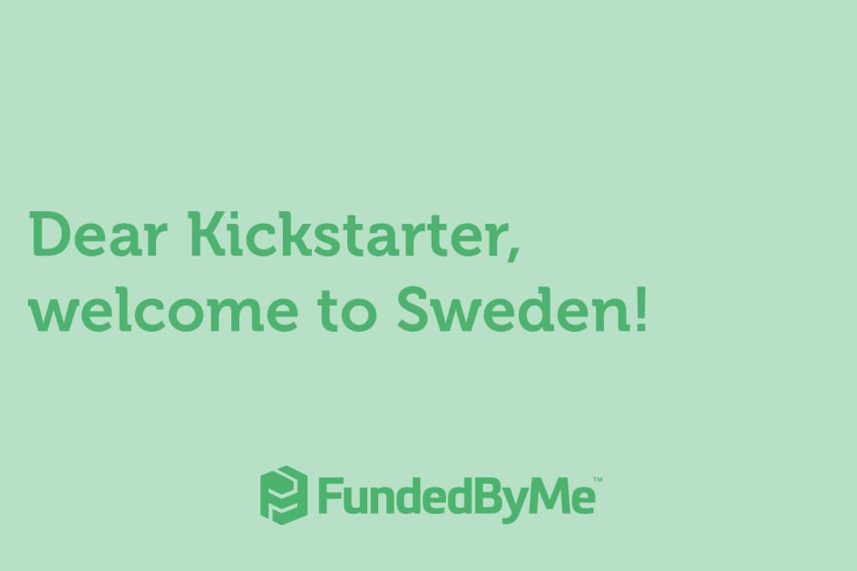 FundedByMe welcomes Kickstarter to Sweden with a gift