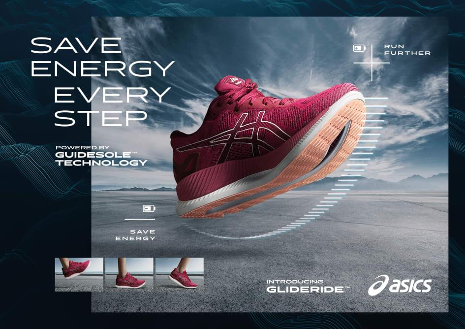 ASICS nya sko GLIDERIDE ger löpare tillgång till