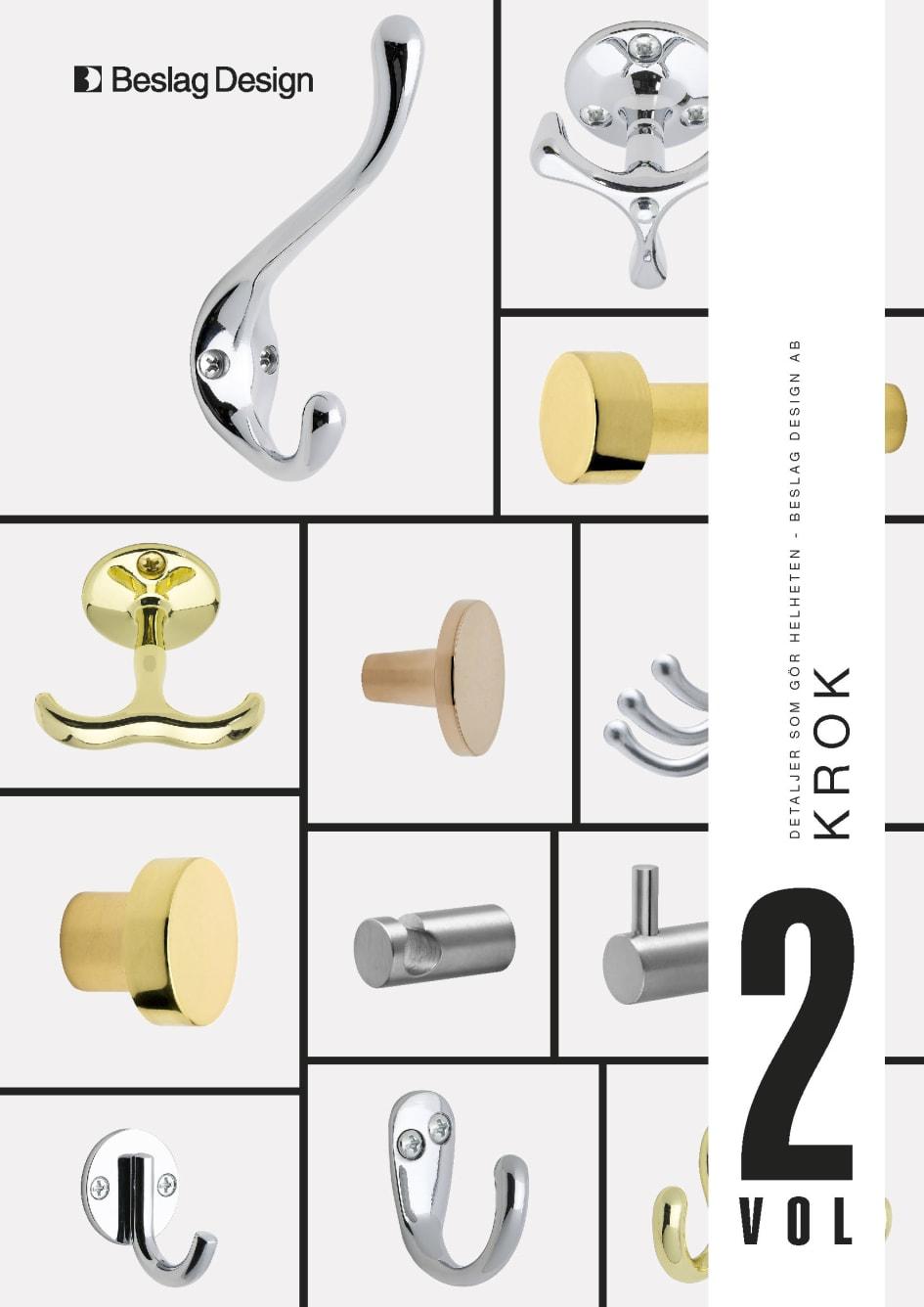 9e92bd01cc6c Beslag Design lanserar ett nytt sortiment med krokar i utförandena polerad  mässing