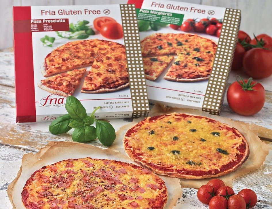 glutenfri pizza fryst