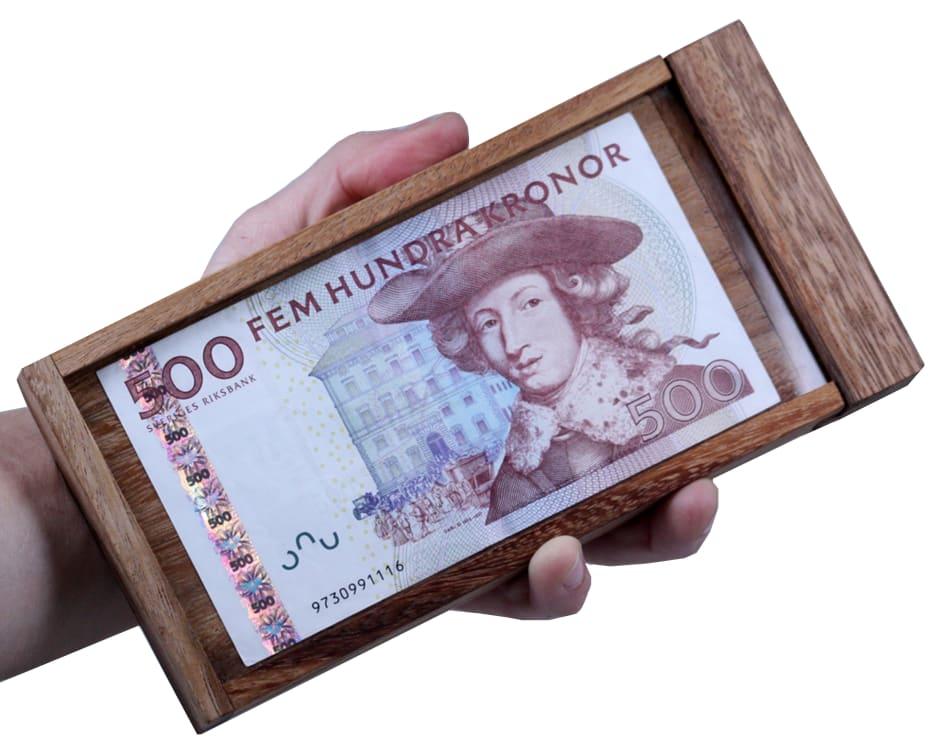 presentask för pengar lösning