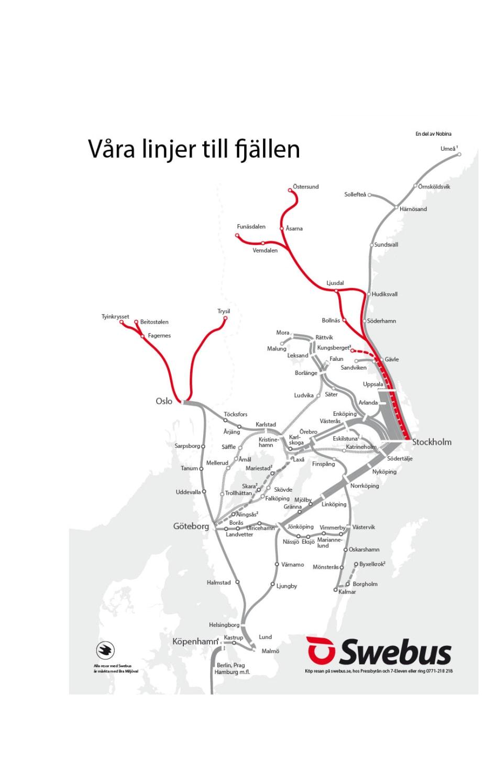 Karta Alingsas Boras.Karta Over Busslinjerna Till Fjallen Flixbus