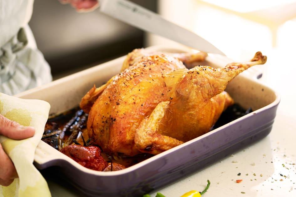 hel kyckling i ugn tid per kg