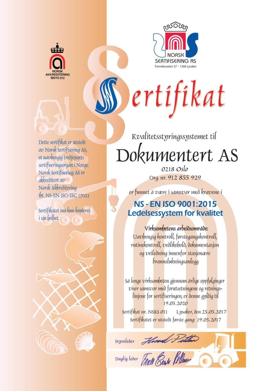 iso 9001 sertifisering