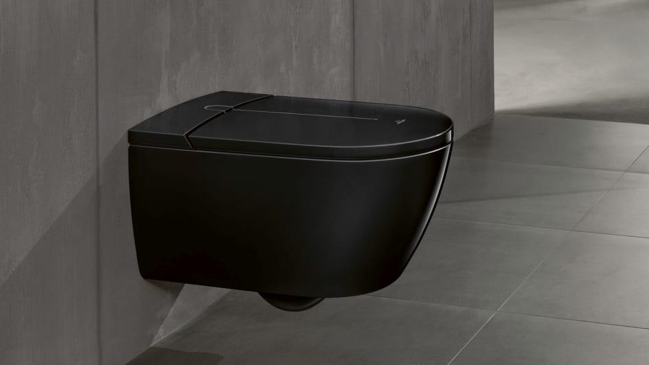 Ein Dusch-WC in tiefem Schwarz - ViClean-I 100 Black Edition ...