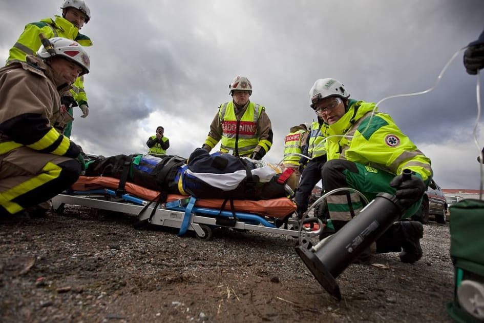 kallade på ambulans