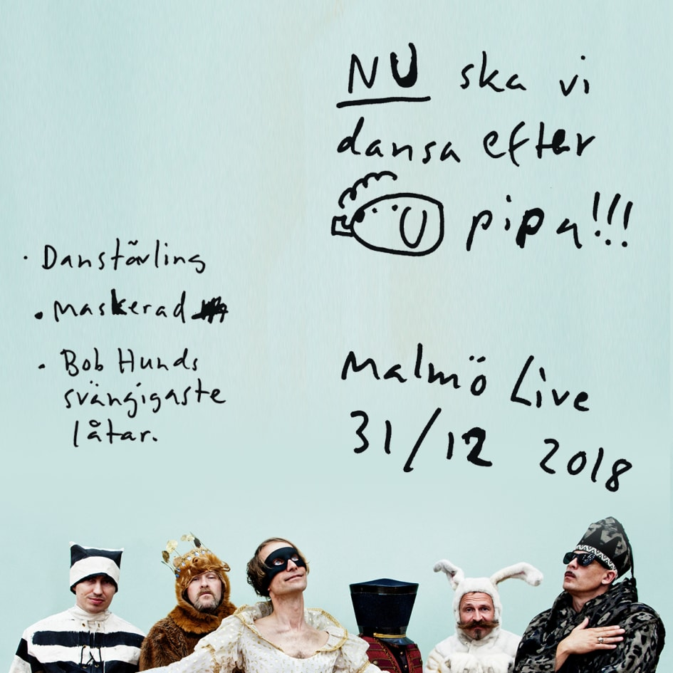 Nu ska vi dansa efter Bob Hunds pipa! – Nyårsfest med maskerad på Malmö live 4b735be2c557b