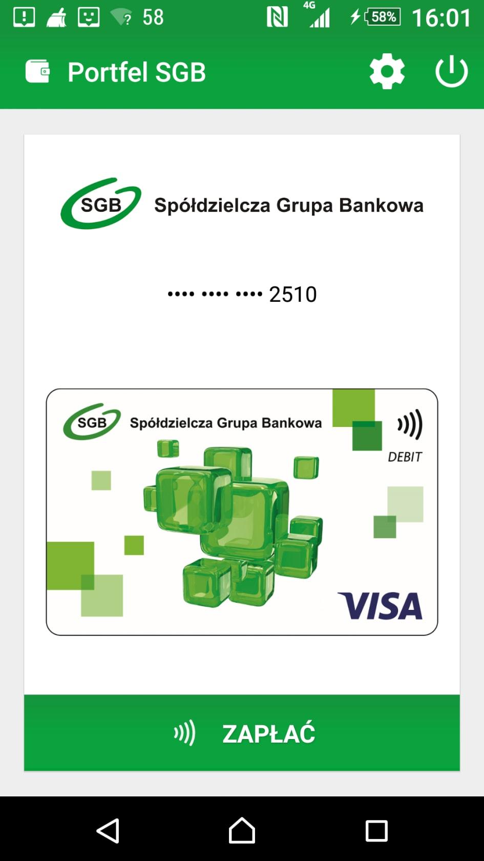 Karta Visa W Portfelu Sgb Visa Polska