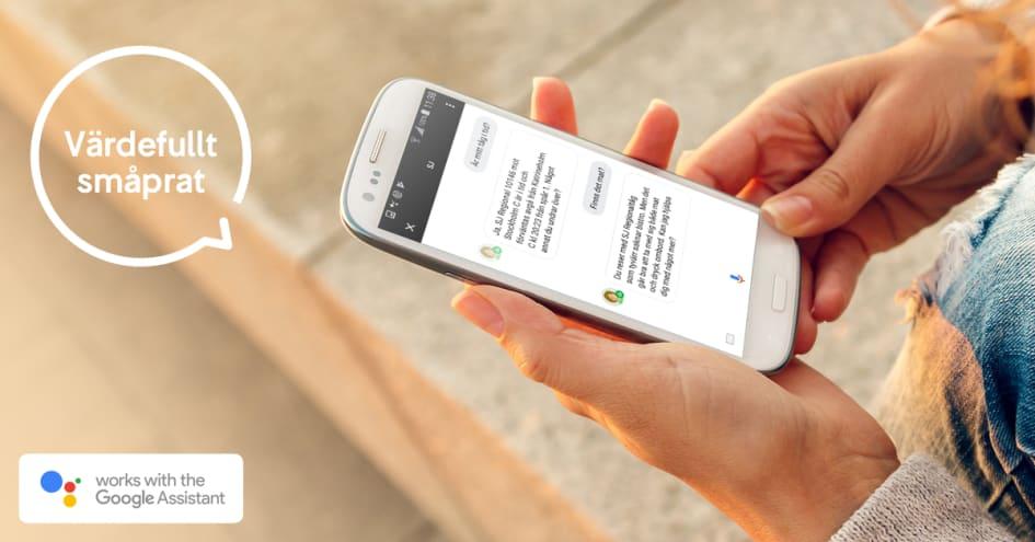 Nu kan SJs resenärer ställa frågor till en ny rösttjänst genom Google  Assistent och få snabb information om sina resor. SJs pilottjänst är tänkt  att vara en ... 929a04f172dd4