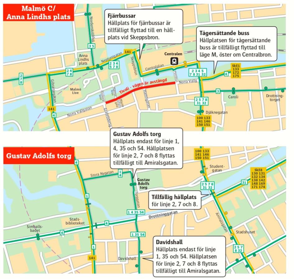 Fler Bussar Och Tag Under Malmofestivalen Skanetrafiken