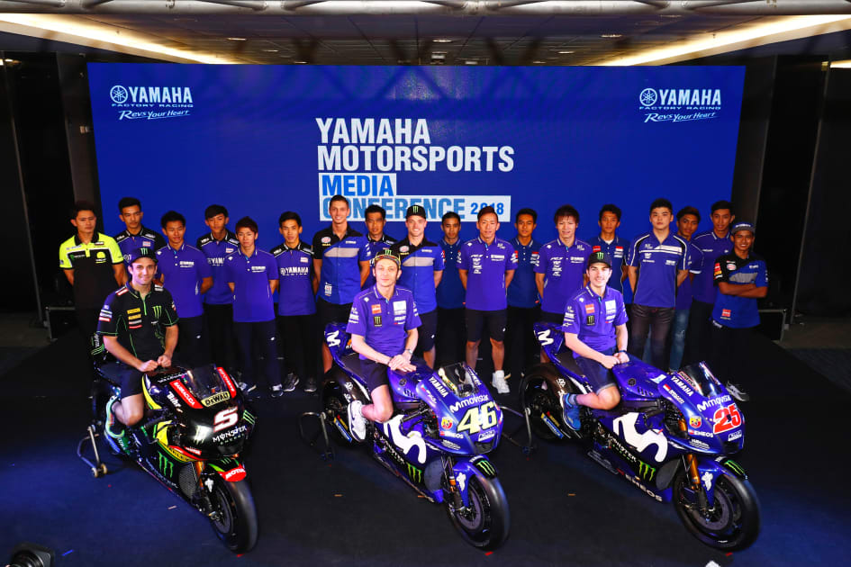 February 15 2018 Yamaha Motor Co Ltd Tokyo 7272 Held The Motorsports Media Conference At Chang International Circuit In Buriram