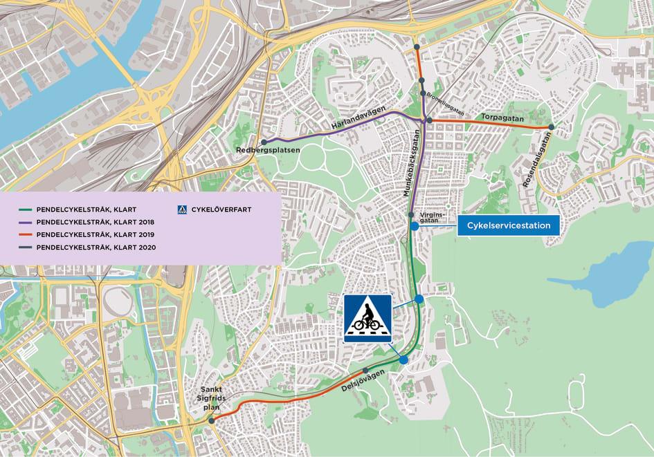Nu Invigs Forsta Etappen Av Goteborgs Nya Pendelcykelstrak