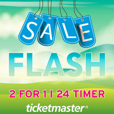 Ticketmaster 2 for 1 norge