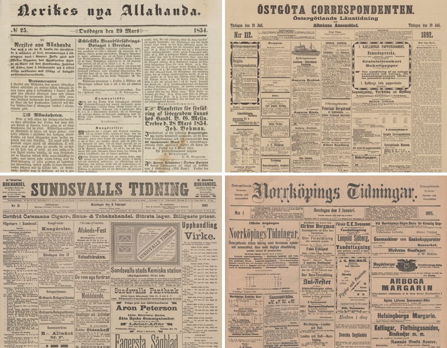 Dagstidningar i sverige