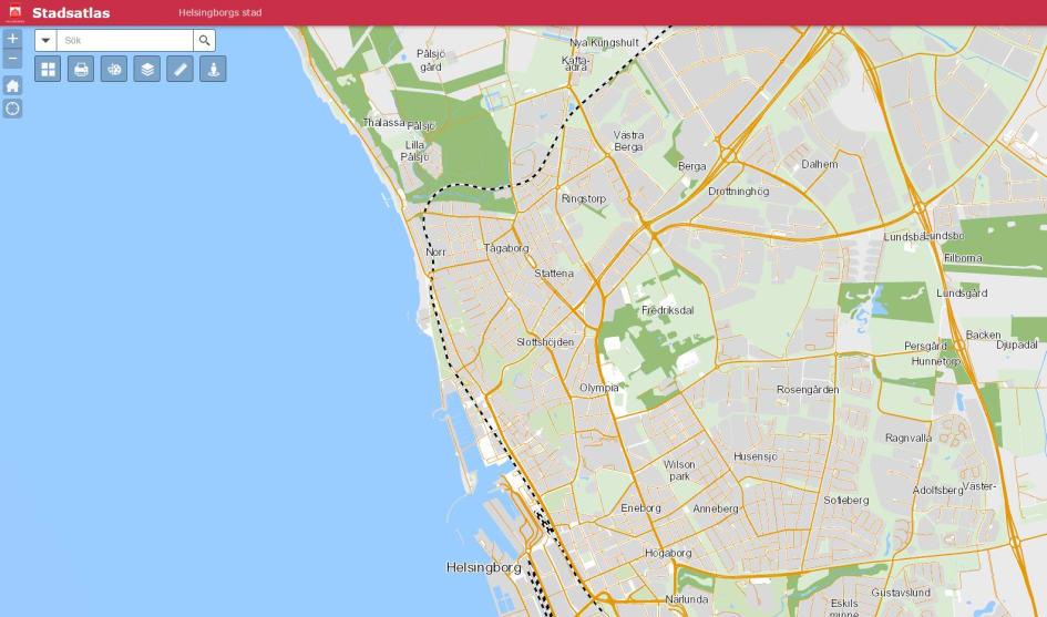 Helsingborgs Stadsatlas I En Karta Som Oppen Data Helsingborgs Stad