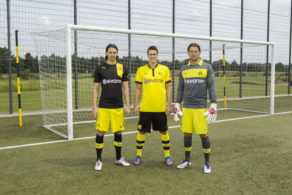 d7ff3bd2e0a Dortmund, Germany (July, 2012) –PUMA® launched the new Borussia Dortmund  Home and Away kits for the 2012/13 season. The first BVB kit made by the ...