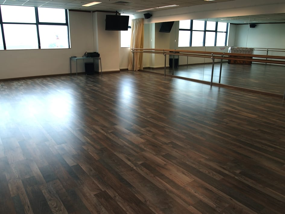 Commercial Laminate Flooring Project By Evorich AQ Dance Studio - How hard is it to lay laminate flooring