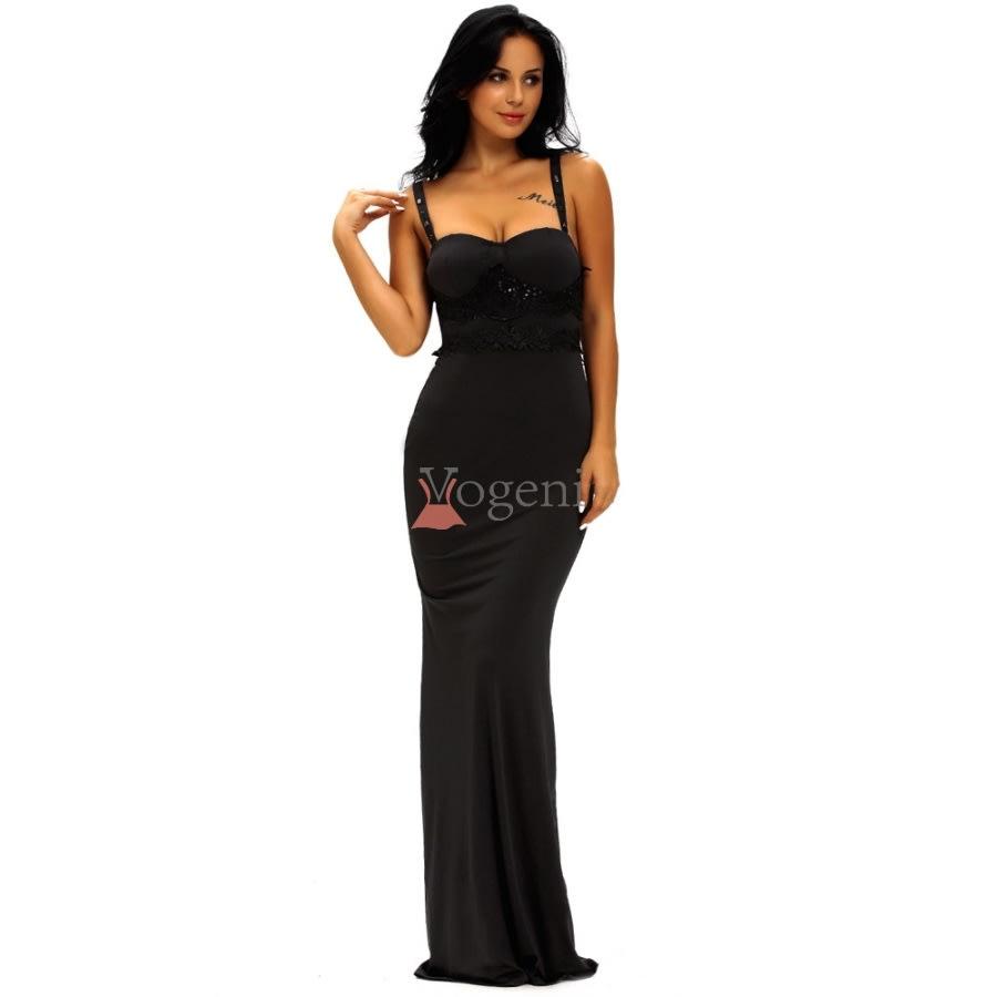 klänning lång fest