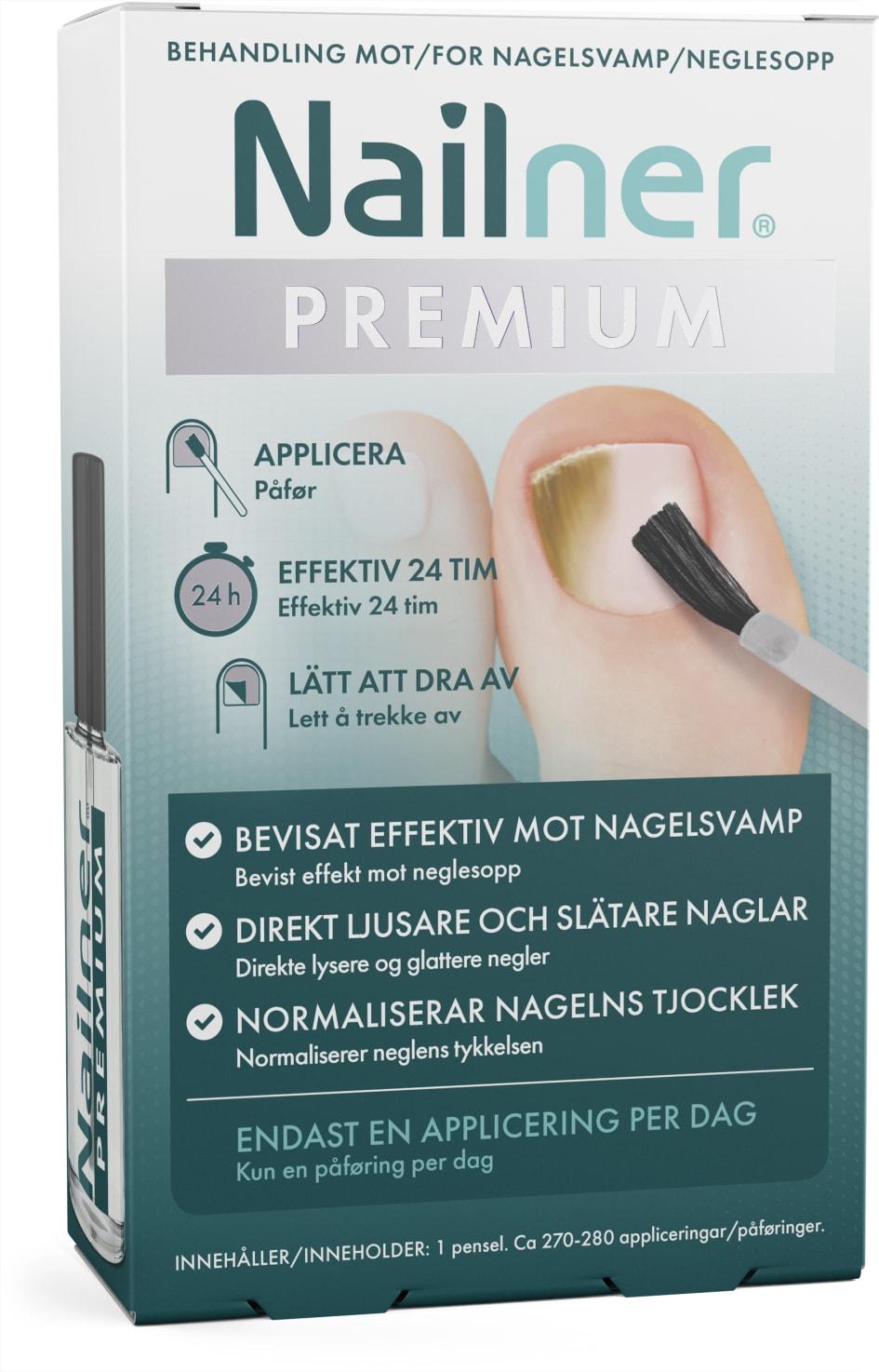 7135e680651 Nu finns en ny effektiv behandling mot nagelsvamp som ger direkt synligt  resultat. Nailner Premium erbjuder den nyaste teknologin mot nagelsvamp med  en unik ...