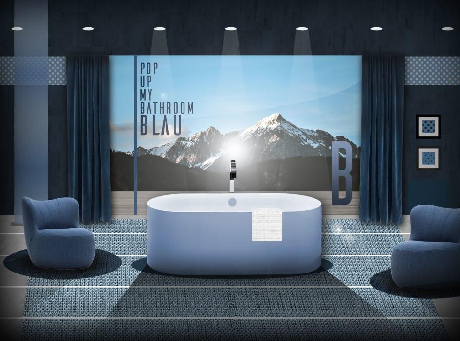 Von Türkis bis Ultramarin: das Bad in blau - Pop up my Bathroom