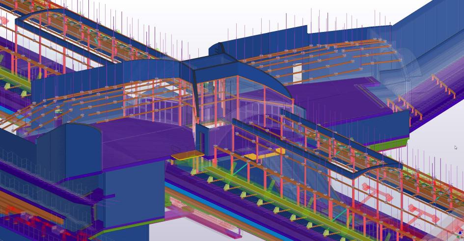Stationen i Hagalund sedd från Tekla Structures - Trimble Solutions