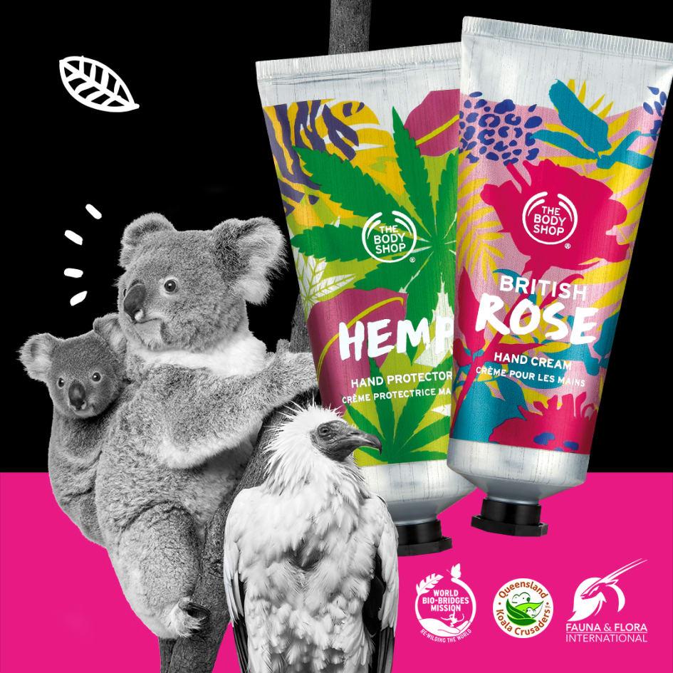 05ba1b6a0fb5 The Body Shop har alltid stått på djurens sida. I årtionden har varumärket  kämpat för djurens rättigheter med kampanjer som Save the Whale med  Greenpeace ...