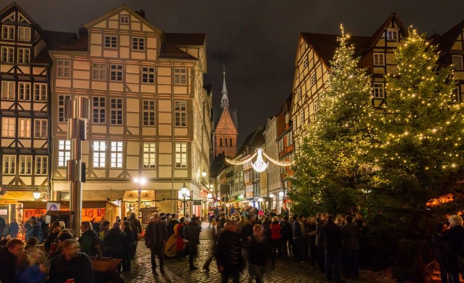Hannover Weihnachtsmarkt.Weihnachtsmarkt Hannover Tysklands Turistkontor