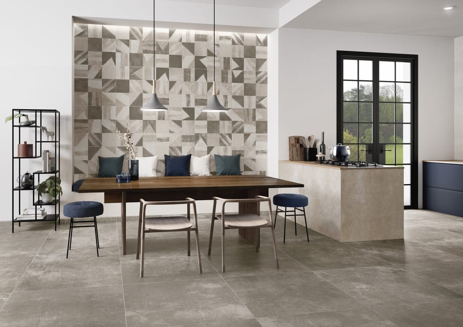 New Tiles For By Villeroy Boch A Wall And Floor Concept - Place and press floor tiles