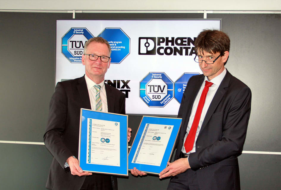 Phoenix Contact awarded certification in accordance with IEC