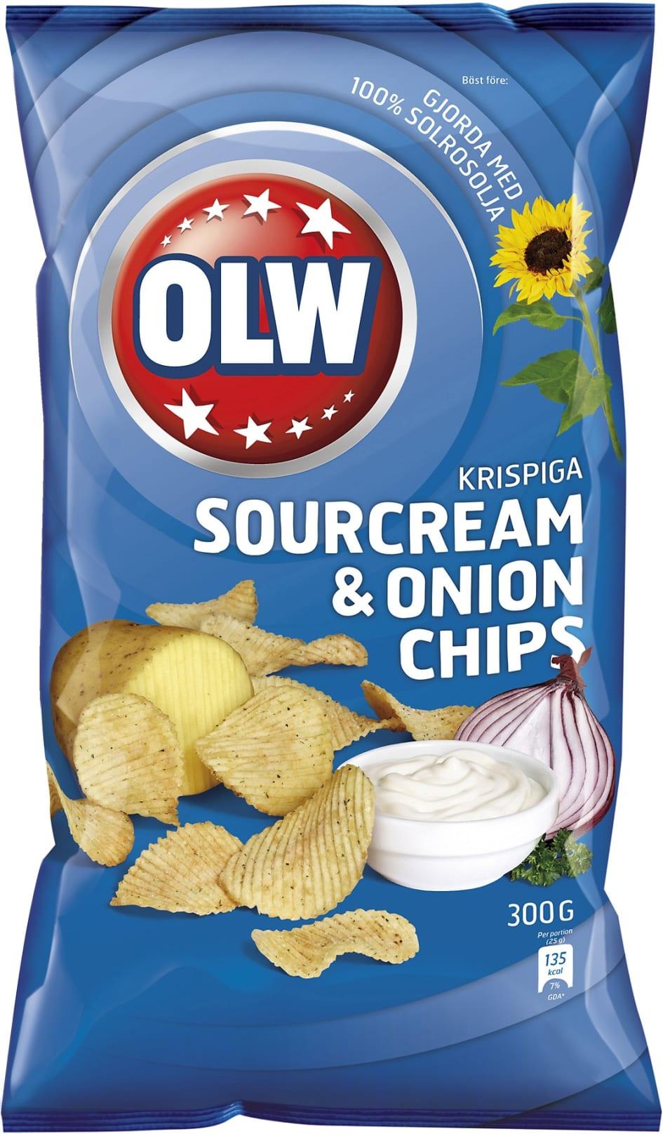 olw chips kalorier