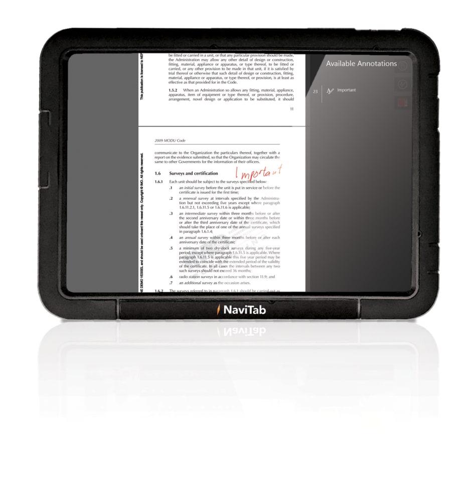 NaviTab - Make customised annotations - Nautisk Forlag AS