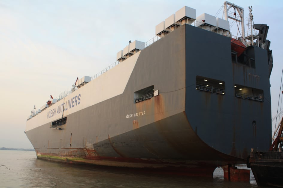 Chinese yard picks up Hoegh car carrier for green recycling