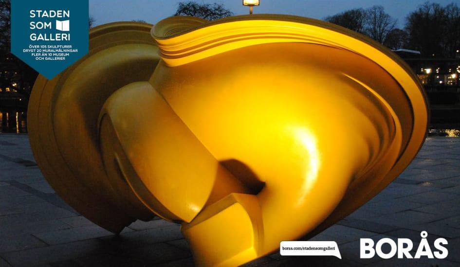 Karta Skulpturer Boras.Staden Som Galleri Visar Upplyst Konst Boras Tme