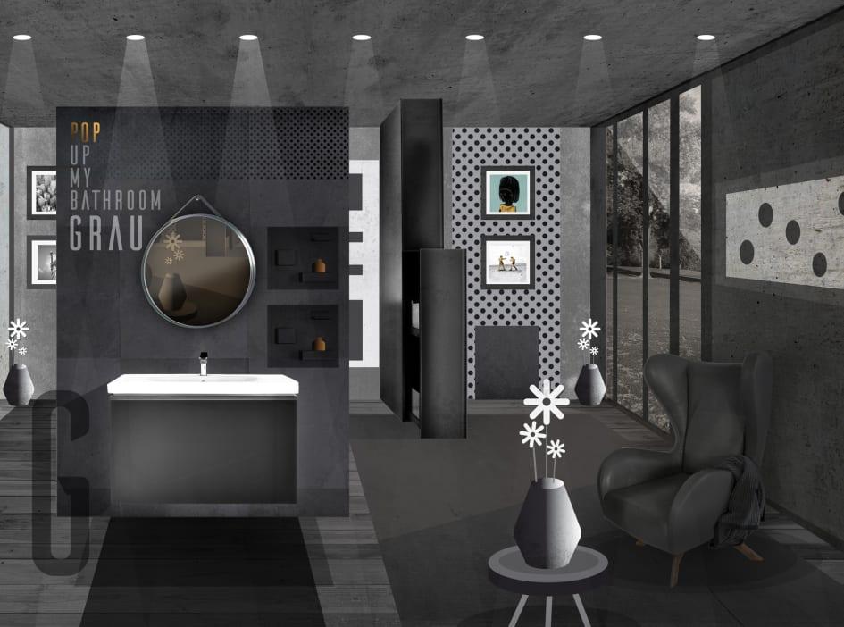 Modernes Badezimmer mit langer Haltbarkeit: Auch Grau ist eine Farbe ...