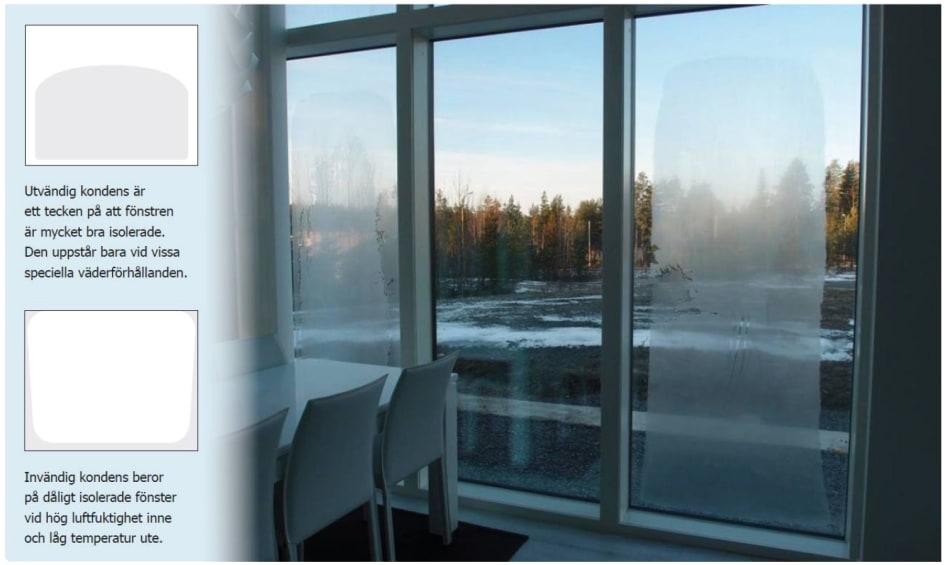kondens på fönster utsidan