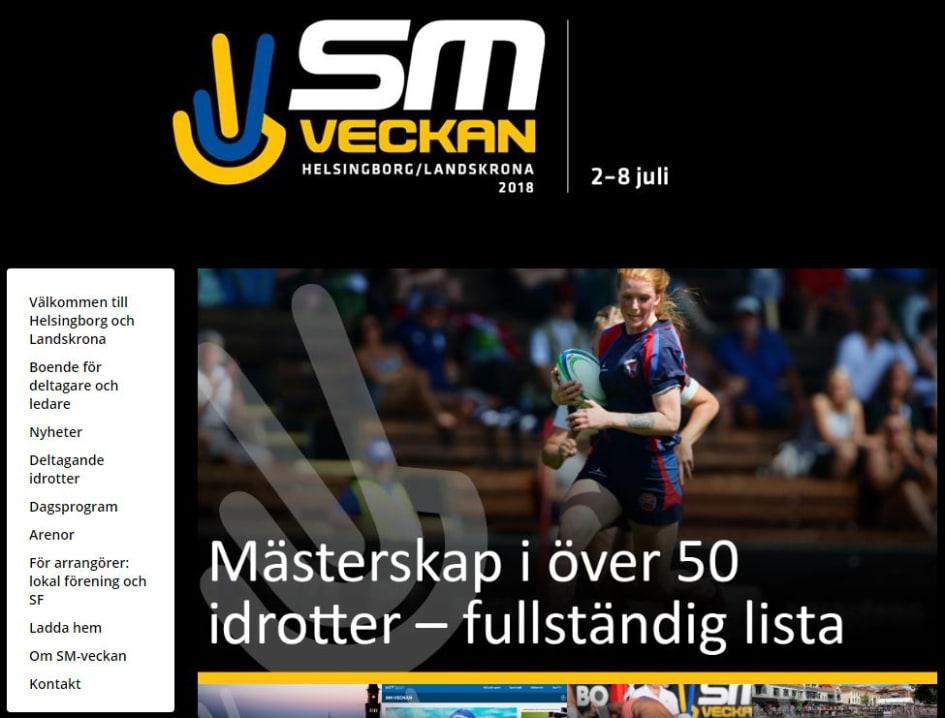 e9aed3b3ca23 Full fart i Helsingborg och Landskrona när städerna arrangerar SM-veckan i  sommar. Bild: SM-veckans hemsida.