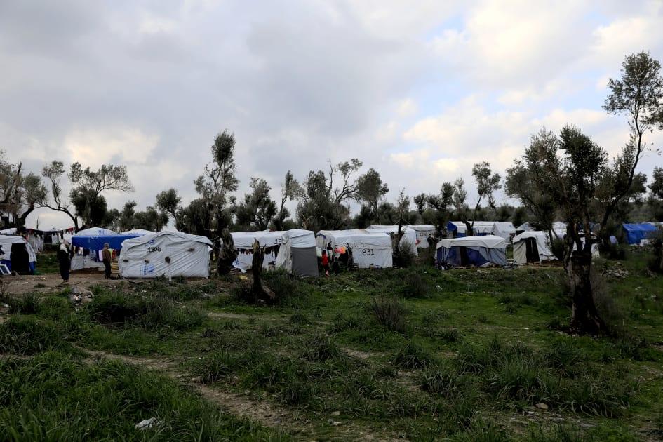 grekiska öar med flyktingar