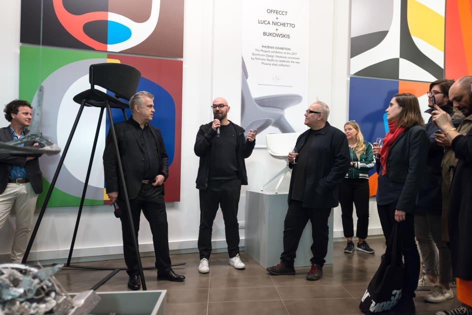 Offecct art installation Phoenix chair in Milan 2017