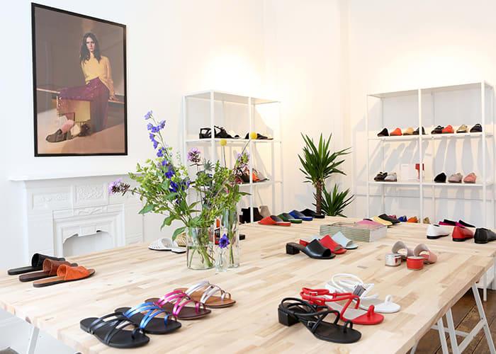 d6fe7693bcb Vagabond Shoemakers showroom på Chiltern Street Gallery i Marylebone,  London.