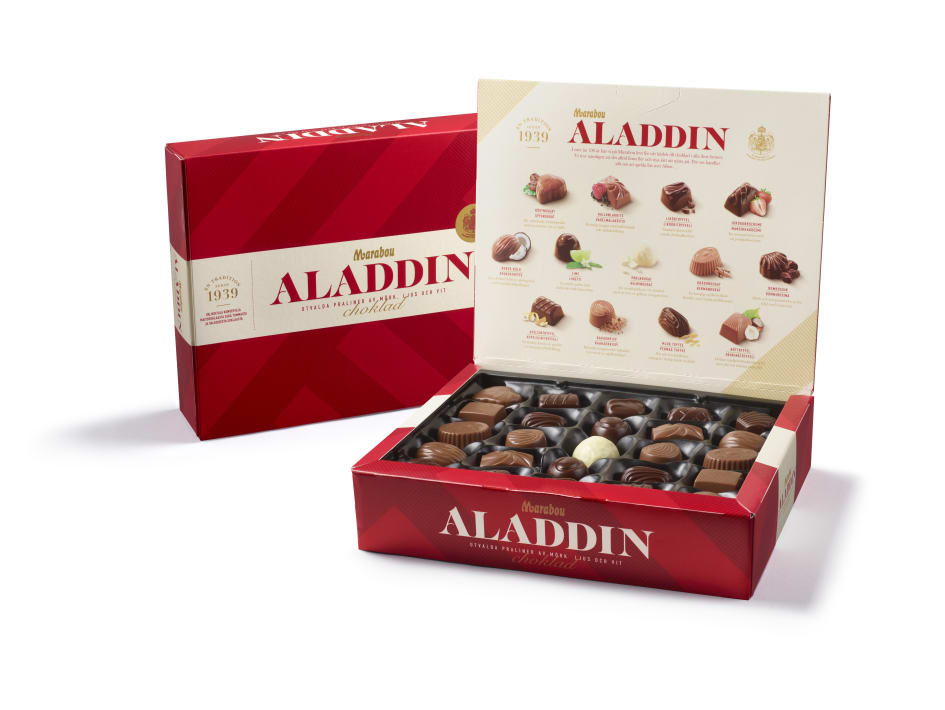aladdin choklad innehåll