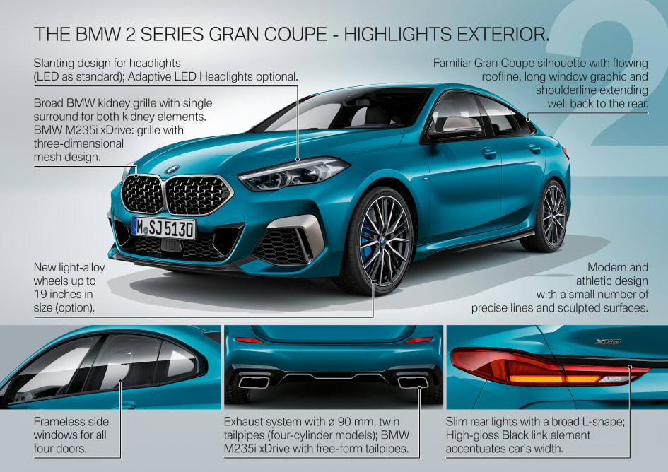 Image result for bmw series 2 gran coupe highlights
