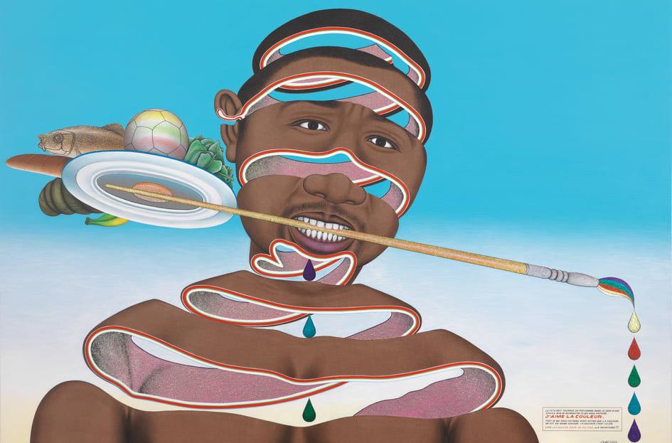Chéri Samba, J'aime la couleur, 2010 Astrup Fearnley Museet