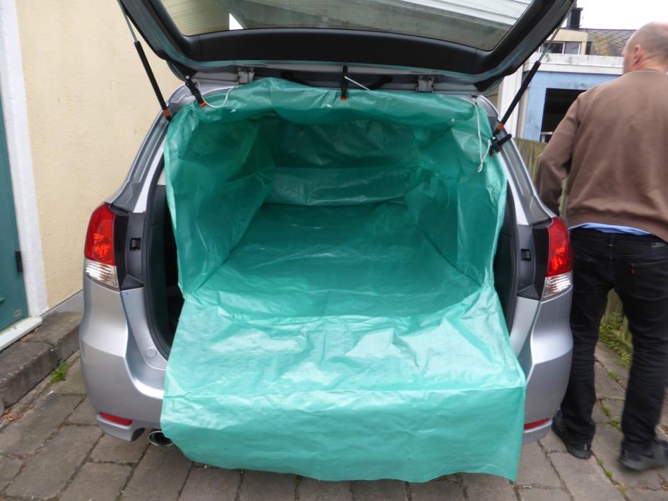 skydd bagageutrymme bil