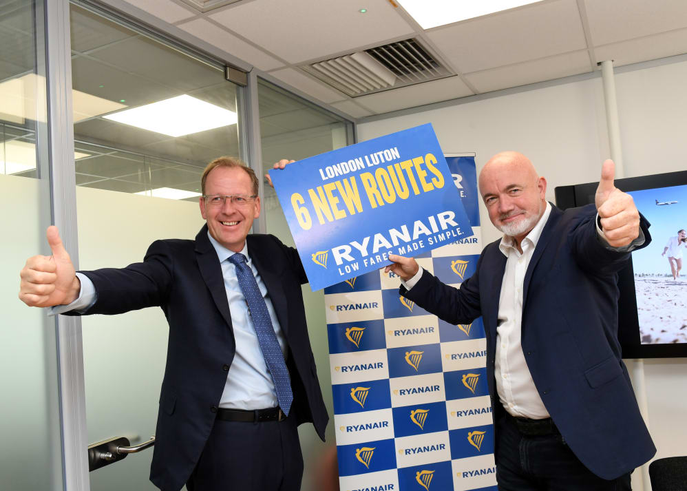 Ryanair announces further investment and new routes at london ryanair today 23 aug announced an investment of 200m 156m at london luton airport lla with 2 new based aircraft for its winter 2018 schedule and m4hsunfo
