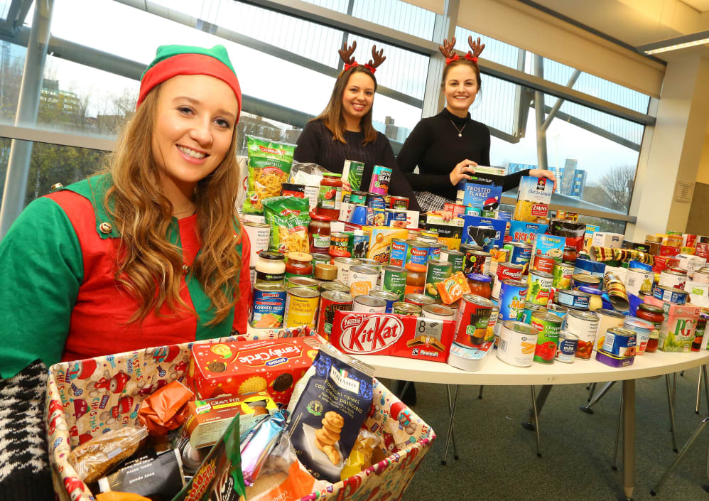 Food For Thought Students Collect Donations For Those In