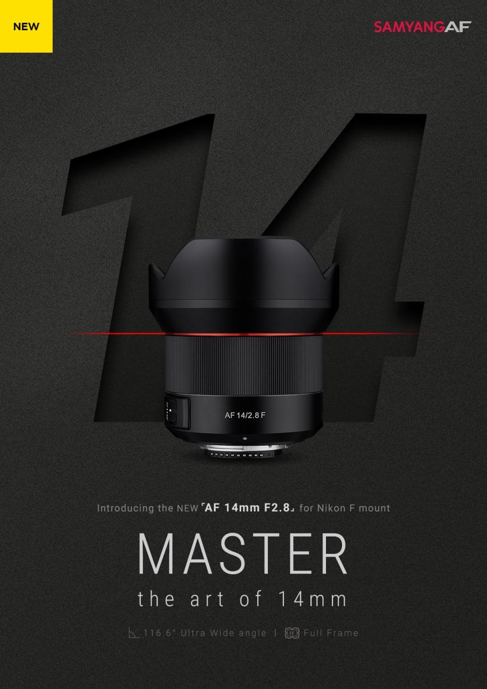 SAMYANG launcht Autofokus Ultraweitwinkel-Objektiv AF 14mm F2.8 ...