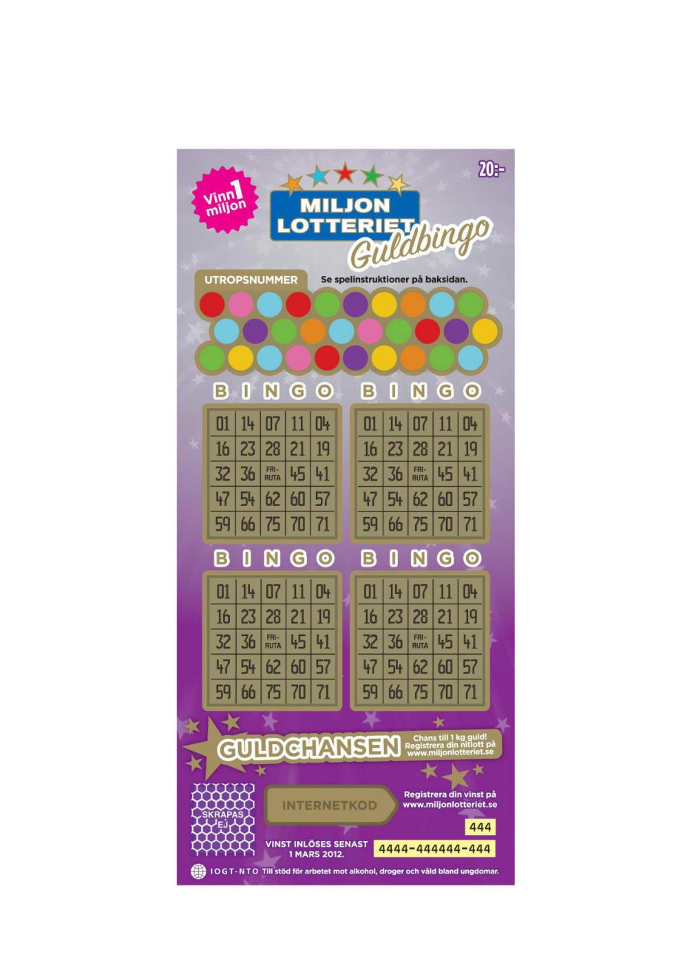 Nitlott for bingo